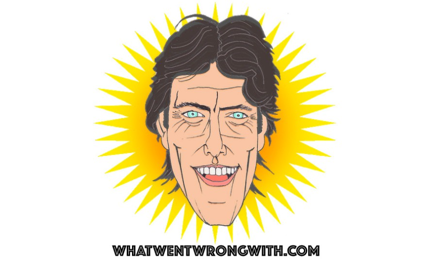 A caricature of John Bishop by What Went Wrong Or Right With...? for whatwentwrongwith.com