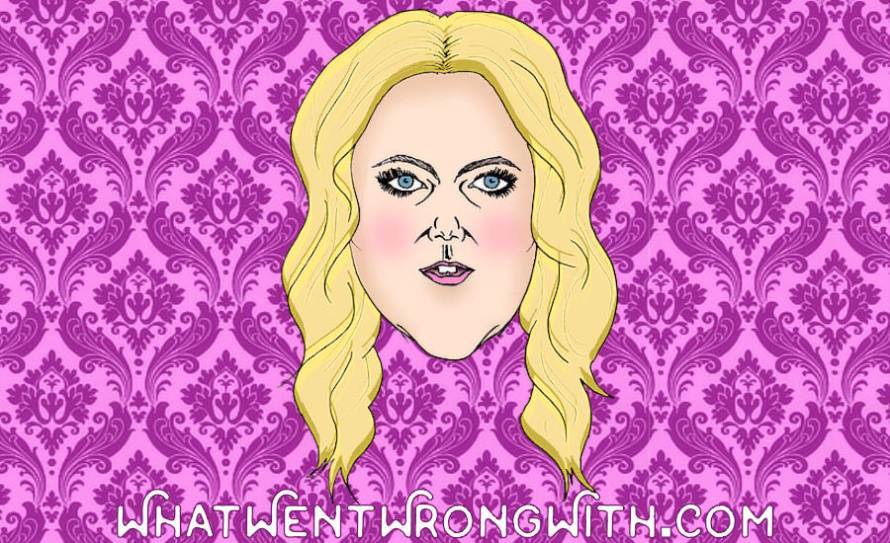 A caricature of Amy Schumer by What Went Wrong Or Right With...? for whatwentwrongwith.com