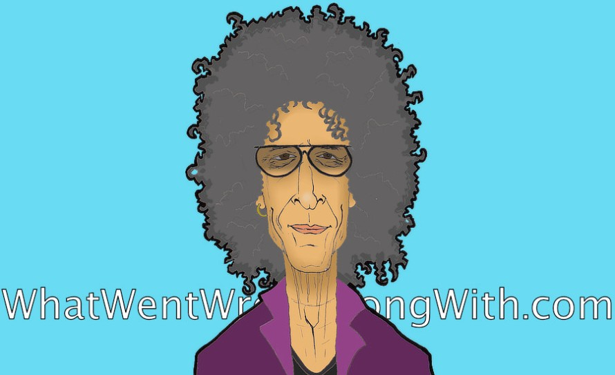 A caricature of Howard Stern by What Went Wrong Or Right With...? For whatwentwrongwith.com