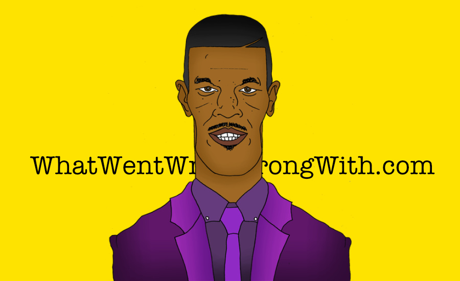A caricature of Jamie Foxx by What Went Wrong Or Right With...? for whatwentwrongwith.com