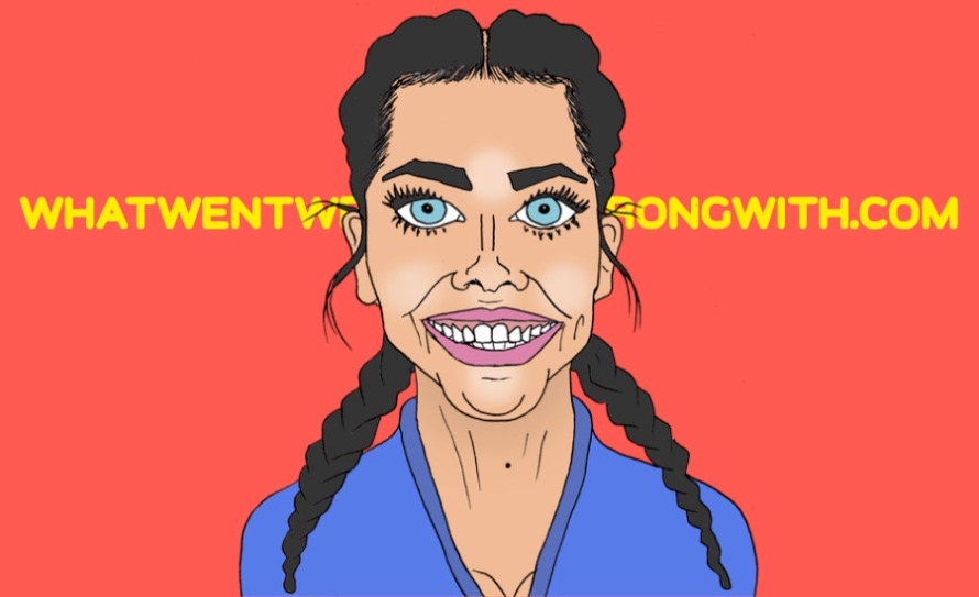 A caricature of Scarlett Moffatt by What Went Wrong Or Right With...?