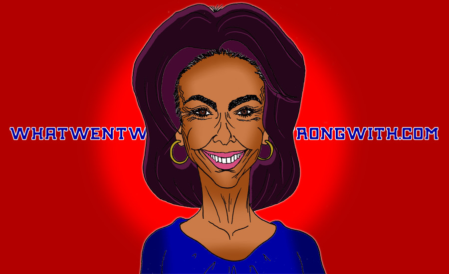 A caricature of Jeanine Pirro by What Went Wrong Or Right With...?