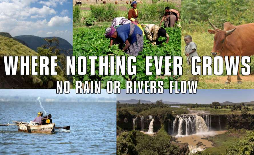 A collage image of Ethiopia with the Band Aid Do They Know It's Christmas lyrics by What Went Wrong Or Right With...?