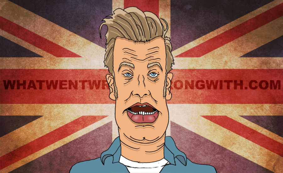 A caricature of Jamie Oliver by What Went Wrong Or Right With...?