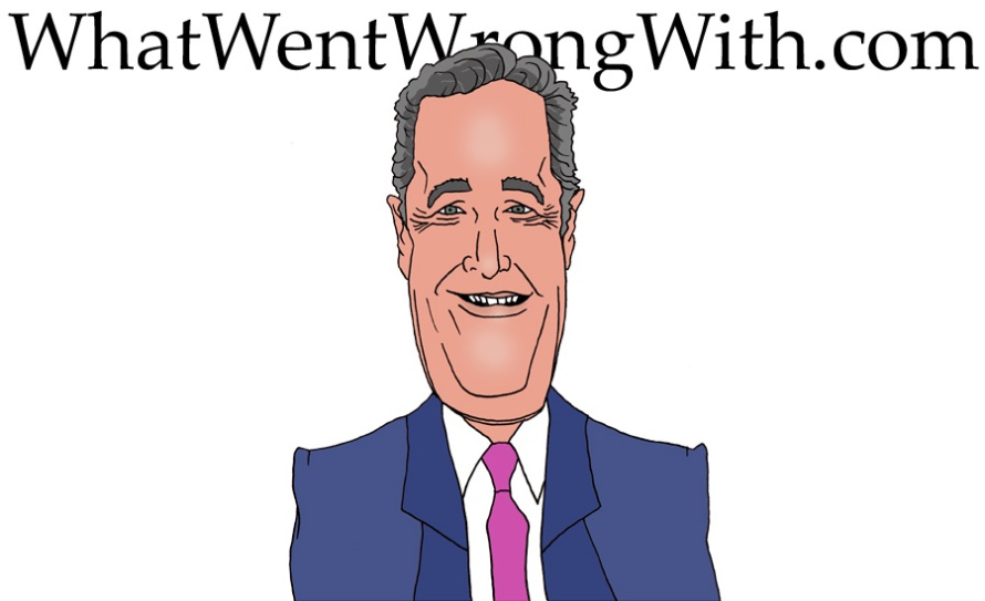 A caricature of Piers Morgan by What Went Wrong Or Right With...?