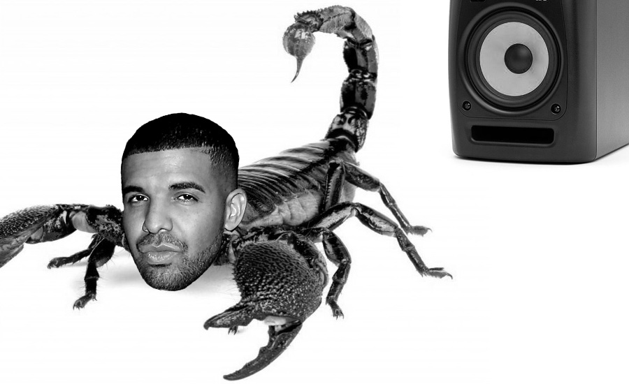 An image of a scorpion with Drake's head by What Went Wrong Or Right With...?