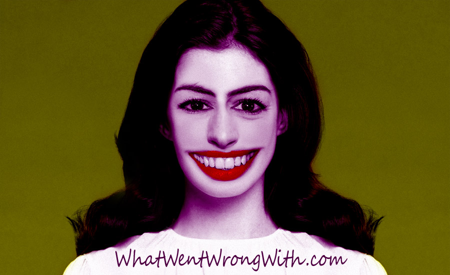 A digital caricature of Anne Hathaway by What Went Wrong Or Right With...?