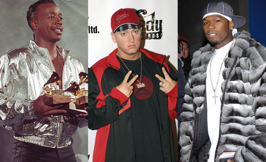 An image of embarrassing and corny Hip-Hop fashion from the 1990s and 2000s