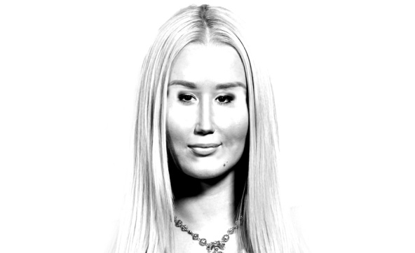A digital caricature of Iggy Azalea for a review of Survive The Summer