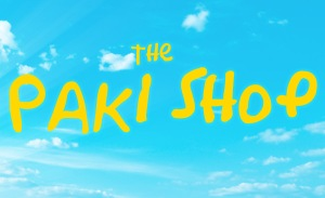 A parody of the opening titles for The Simpsons with the text The Paki Shop