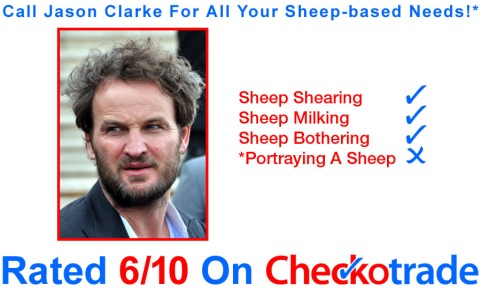 An image of Jason Clarke looking dishevelled