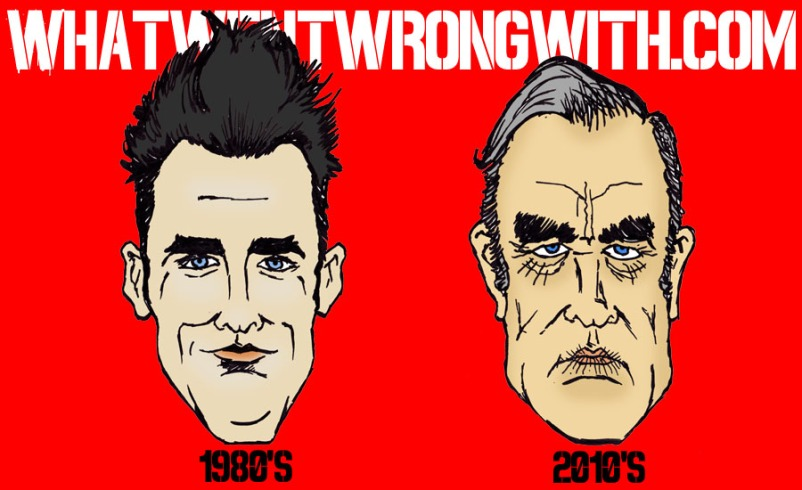 A caricature of Morrissey by What Went Wrong Or Right With...?