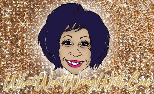 A caricature of Dame Shirley Bassey by What Went Wrong Or Right With...?