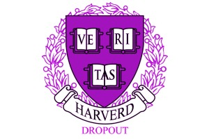 A parody of the Harvard logo to accompany a review of Harverd Dropout by Lil Pump