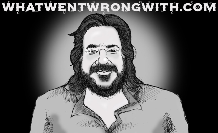 A caricature of Matt Berry by What Went Wrong Or Right With...?