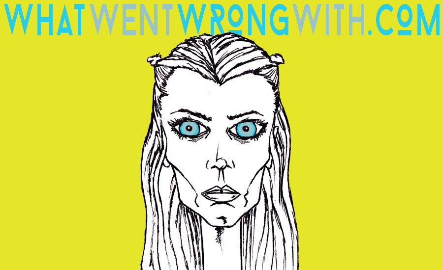 A caricature of Abbey Lee Kershaw by What Went Wrong Or Right With...?