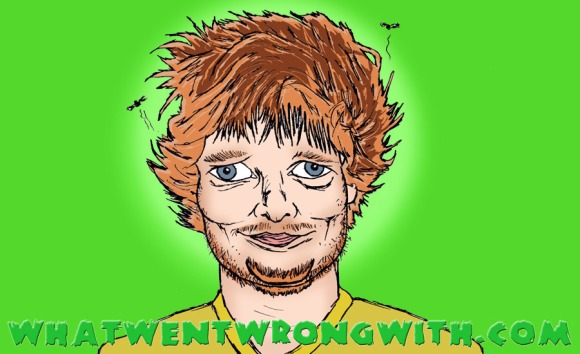 A caricature of Ed Sheeran by What Went Wrong Or Right With...?