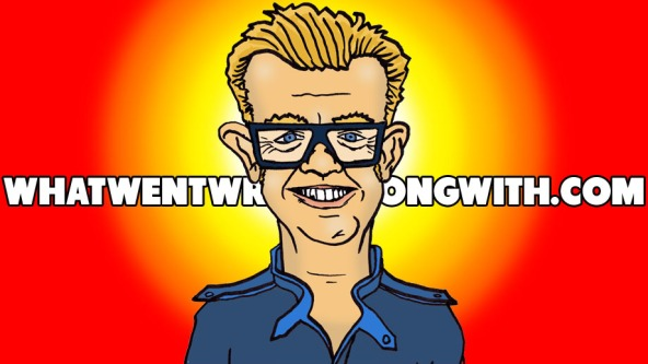 A caricature of Chris Evans (the radio and TV presenter)