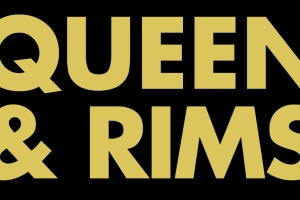A parody of Queen & Slim poster reading Queen & Rims