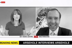 An image of Kay Burley interviewing Matt Hancock