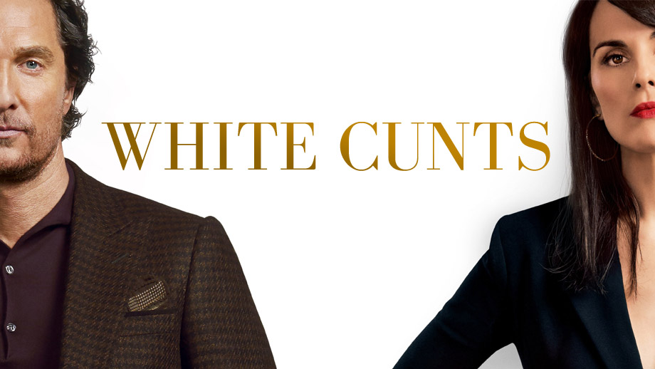 A poster for Guy Ritchie's The Gentlemen acknowledging the racism