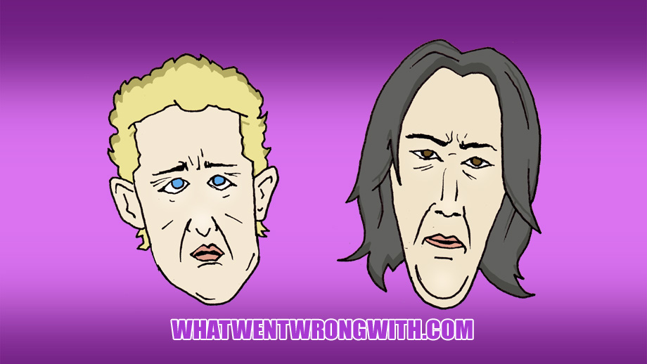 Caricatures of Bill and Ted in Face The Music