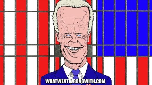 A caricature of Joe Biden by What Went Wrong Or Right With...?