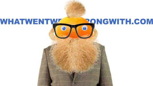 A caricature of Frankie Boyle created with found objects