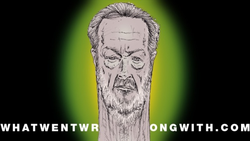 A caricature of Ridley Scott