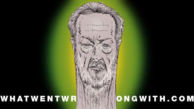 A caricature of Ridley Scott