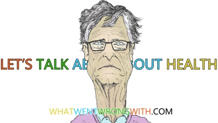 A caricature of Bill Gates
