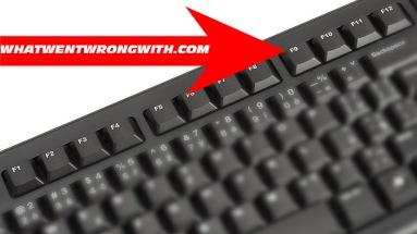 An F9 key on a computer keyboard