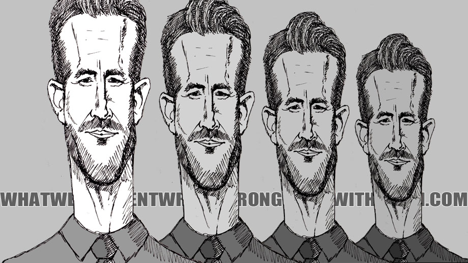 A caricature of Ryan Reynolds