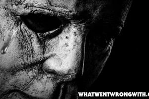 Michael Myers with a tear crying